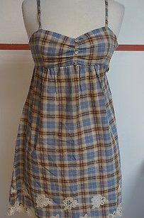 Nell Couture short dress Blues Plaid on Tradesy