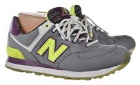 New Balance Balance Womens Gray Sneakers Lace Up Printed Textile Multi-Color Athletic