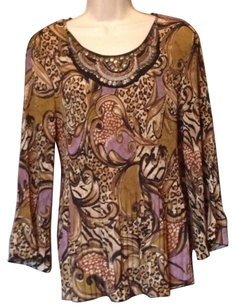 New Directions Top brown purple