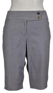 Nicole Miller Nicole Womens Capri Striped Cropped Pants