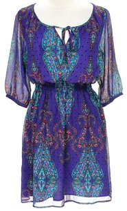Nicole Miller Paisley A-line Dress