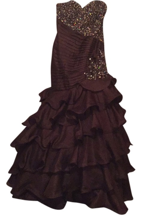 quinceanera night moves long gold dress 6498