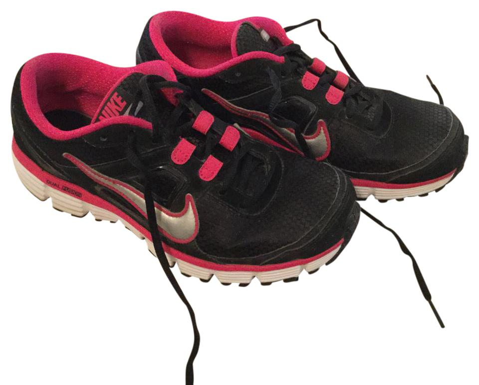 652f76208e84 Nike Black White and Hot Pink Dual Fusion Fusion Fusion Sneakers Size US  9.5 Regular (M