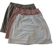 Nike Dri-fit Mini Elastic Waistband Tennis Mini Skirt Olive green, Light purple, and Sky blue