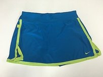 Nike Nike Women Blue Green Stretch Side Slit Short Athletic Mini Skort Sma3486