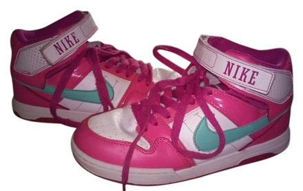 Preload https://item1.tradesy.com/images/nike-pink-white-and-green-high-top-velcro-gym-sneakers-size-us-6-regular-m-b-5981185-0-0.jpg?width=440&height=440