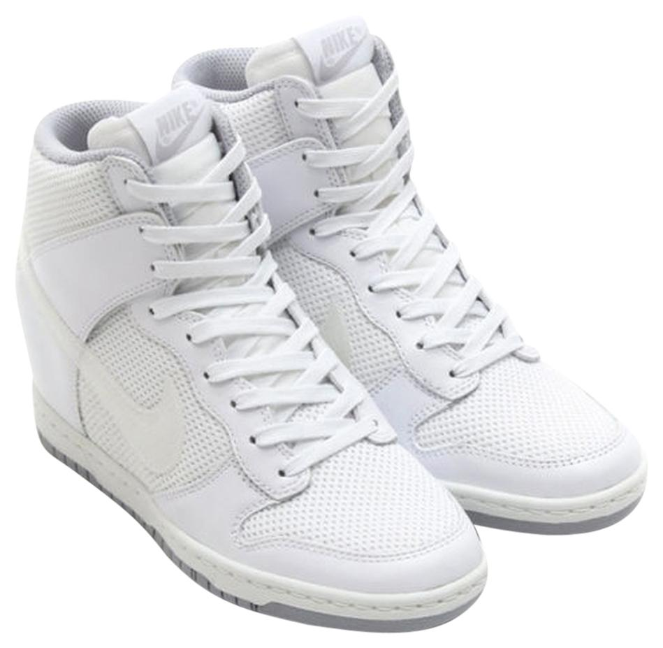 Nike Heel Sneaker Dunk Sneaker Boot Sneaker White Wedges. Nike White Dunk  Sky Hi Essential Heel Sneaker Wedges Size US 9.5 Regular (M, B)