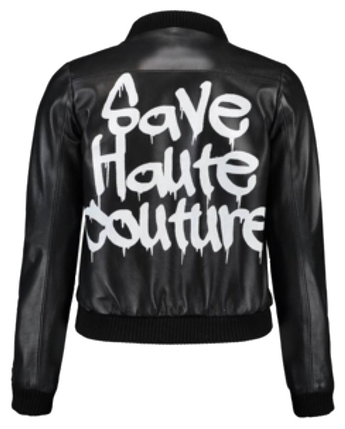 Save Haute Couture  leather Jacket bomber