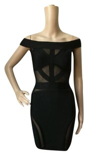 NilouPdx Off Bandage Herve Leger Cut-out Sexy Dress
