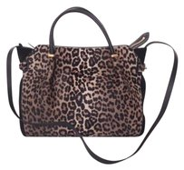Nina Ricci Pony Hair Satchel in Leopard Print