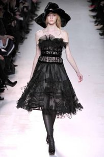 Nina Ricci short dress Black F11 Runway Tulle Lace Bustier 360 on Tradesy