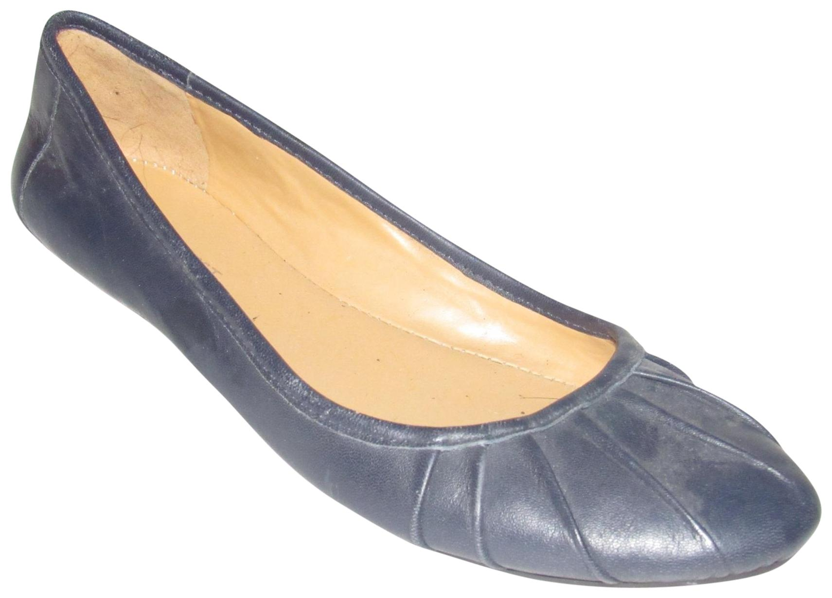 03fe83339827 Nine West Navy Blue Leather Modern Shoes Designer Flats Size US US US 7  Regular (M