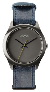 Nixon Mod Leather Gunmetal/ Navy