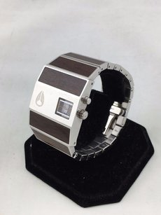 Nixon Nixon Direct Time Tech The Rotolog Faux Wood Stainless Steel Watch