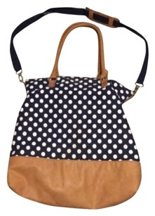 Merona Tote in Blue, White, Brown
