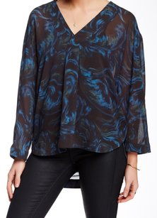 Nordstrom 100% Polyester Batwing Top
