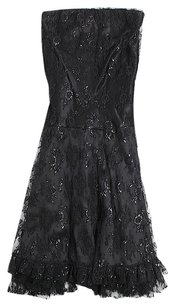 Nu Collective Silk Lace Strapless A-line Prom Dress