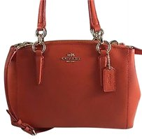 NWT Authentic COACH CROSSGRAIN Christie MINI CARRYALL F36704 LAST ONE Satchel