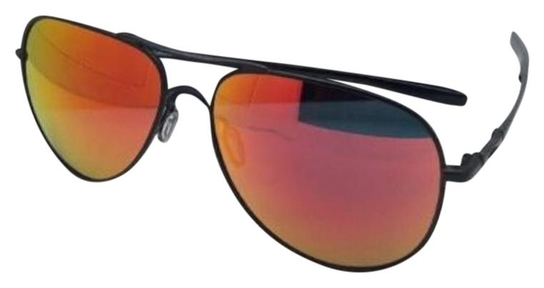 39cfb90070e ... where can i buy oakley oakley sunglasses elmont l oo4119 0460 black  aviator w ruby iridium
