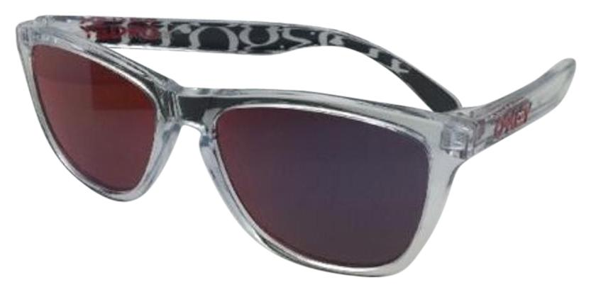 oakley clear sunglasses bncy  Oakley OAKLEY FROGSKINS Sunglasses OO9013-A5 Polished Clear w/Torch Iridium