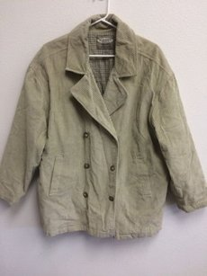 Old Navy Outdoor Life Corduroy Jacket Double Breasted Blazer Oversized Coat