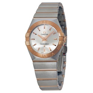 Omega Constellation Brushed Quartz Silver Dial Ladies Watch