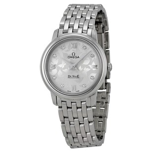Omega De Ville Prestige Silver Diamond Dial Ladies Watch 42410276052001