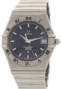 Omega Mens Omega Constellation Perpetual Calendar Stainless Steel Watch