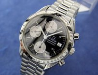 Omega Mens Swiss Omega Speedmaster Chronograph Automatic Stainless Steel Watch 1032