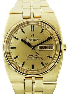 Omega 18k Yellow Gold Omega Constellation Day-date Mens Watch