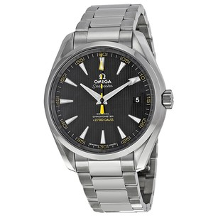 Omega Seamaster Aqua Terra Black Yellow Dial Men's Watch 23110422101002