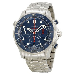 Omega Seamaster Diver Chronograph Blue Dial Steel Men's Watch