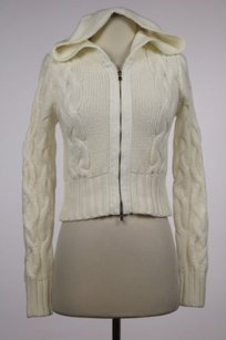 One Girl Who Womens Cable Knit Full Zip Cotton Shirt Sweater