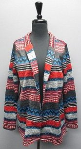 One World Patterned Long Sleeve Open Front Cardigan Bb1359 Sweater