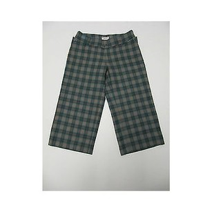 Original Penguin by Munsingwear Wool Plaid Capris 66 Capri/Cropped Pants Greens
