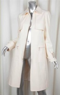 Oscar de la Renta Womens Silkcotton Lightweight Long Jacket Coat