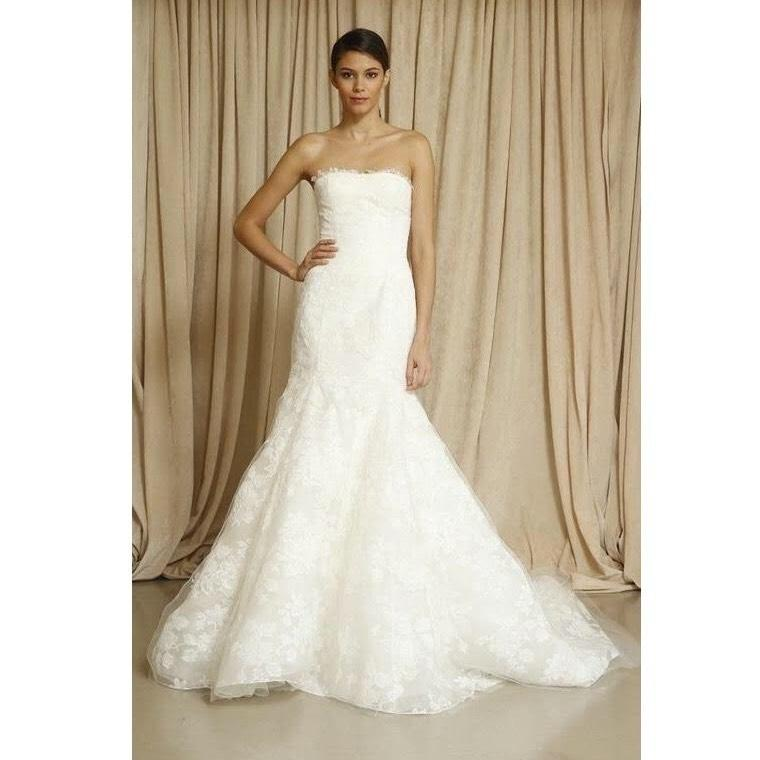 Oscar De La Renta Bridal Ivory Lace Blake Gown Traditional Wedding Dress  Size 0 (XS ...