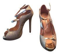 Oscar de la Renta gold glitter Formal