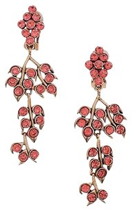 Oscar de la Renta Oscar De La Renta Gold-tone Melon Crystal Vine Clip-on Earrings