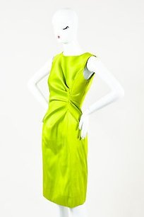 Oscar de la Renta Lime Dress