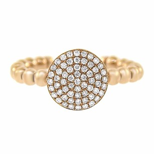 Other 0.38ct Diamond 14k Rose Gold Stack Able Ring