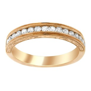 Other 0.45ct Diamond 14k Rose Gold Anniversary Band 4-10