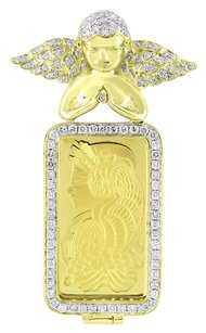 1 Ounce 14k Gold Bar Lady Fortuna Suisse Fine Gold Angel 9999 Diamond Ct