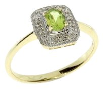 10K .40ct Diamond Peridot Ring
