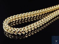 Other 10k Yellow Gold 5.5mm Wide Franco Chain Necklace With Lobster Clasp 24-38 Inch