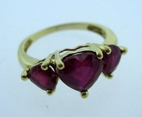 Other 10k Yellow Gold Ladies Red Stone Ring