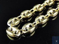 10k Yellow Gold Mm Wide Puffed Mariner Anchor Link Chain Necklace 24-36 Ins