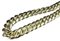 10k Yellow Gold Semi Solid Miami Cuban Link Mm Chain Box Clasp 28-36 Inches