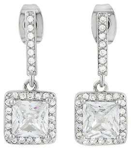 Other 1.15ct Genuine White Sapphire, 14k White Gold Earrings #9347
