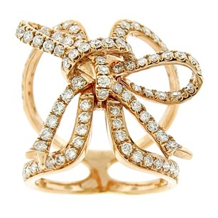 Other 1.29ct Diamond 18k Rose Gold Forget Me Knot Ring Size 4-10